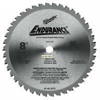 (Milwaukee 48-40-4515 Circular Saw Blade, 8 in Dia x 0.073 in T, 42 Teeth, 5/8 in Arbor)