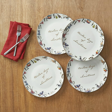 better homes and gardens 12 days of christmas dinner plate 4 pack