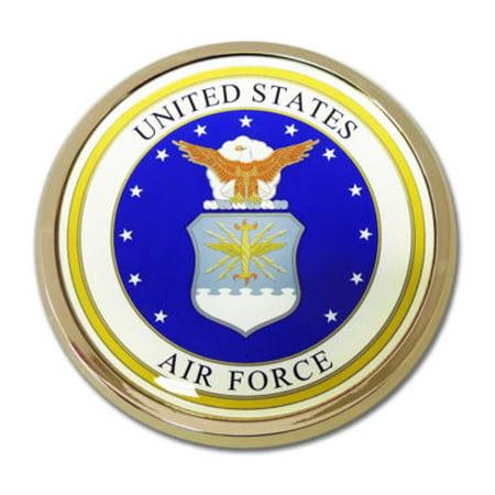 Air Force Seal Chrome Emblem