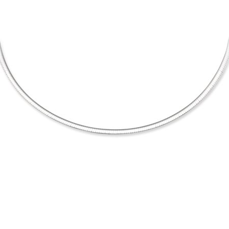 """14K White and Yellow Solid Gold Reversible Omega 3mm Chain 7"""" long Bracelet with Box Catch Clasp"""