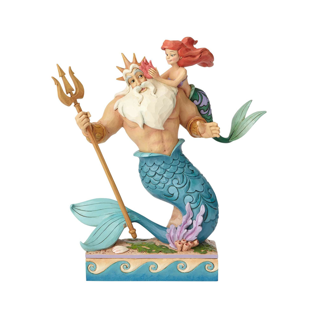 Jim Shore Disney Princess 4059730 Ariel and Triton Figurine 2018