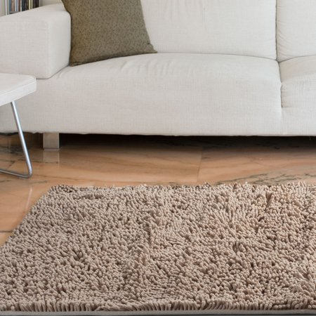 Somerset Home High Pile Shag Rug Carpet - Ivory - 21x36 ()