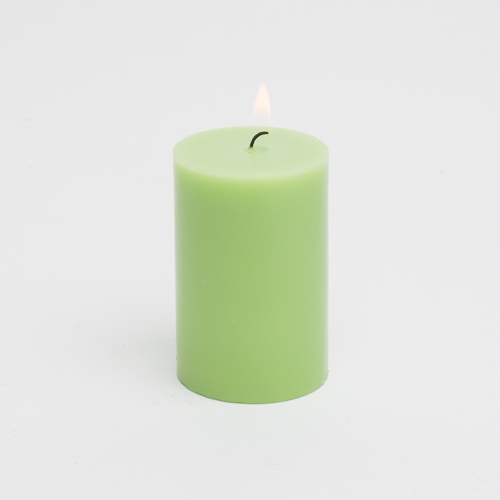 "Richland Pillar Candle 2""x3"" Green Set of 80"