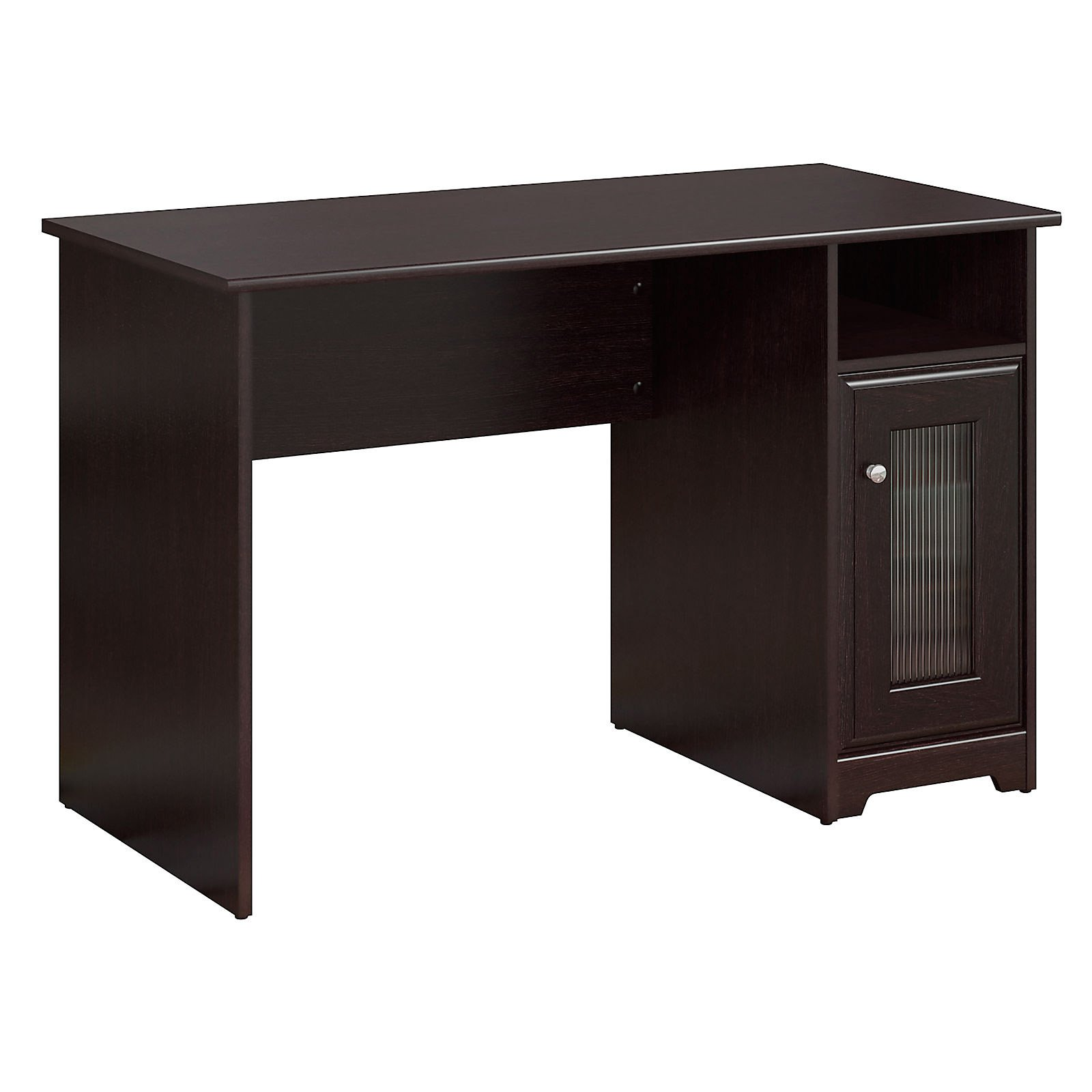 Great Bush Furniture Cabot Collection 48W Single Pedestal Desk, Espresso Oak