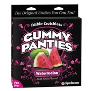 Edible Crotchless Female Gummy Underwear  - Watermelon