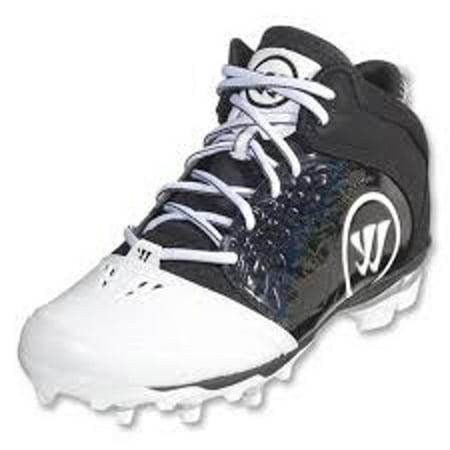 NEW Mens Warrior Adonis Lacrosse Cleats Black / White Size 13 M Ret: (Best Mens Lacrosse Cleats)