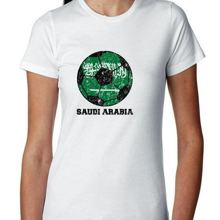 Saudi Arabia World Cup Football Soccer - Russia 2018 Women's Cotton T-Shirt](Beautiful Arabian Womens)