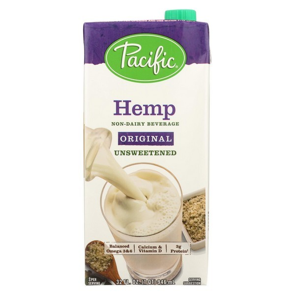 Pacific Natural Foods Hemp Original - Unsweetened - pack of 12 - 32 Fl Oz.