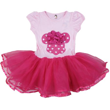 Wenchoice Girl'S Pink & Hot Pink Minnie Bow Dress XL(7Y-8Y) - Hot Pink Girl Dresses