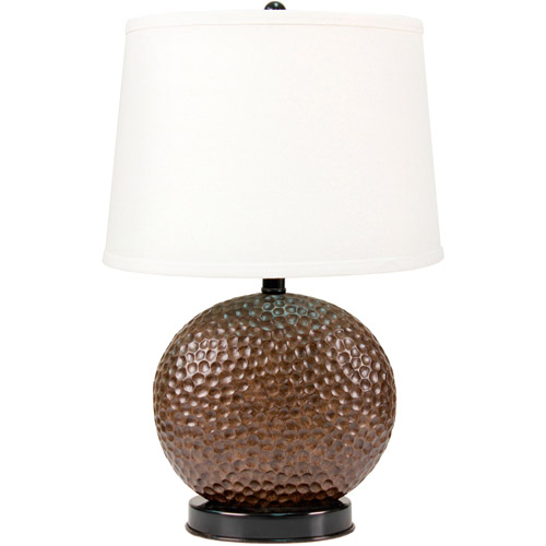 Traditional Hammered Bronze Textured Accent Table Lamp Base