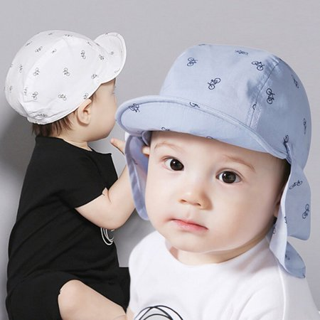 530aa792 BAGGUCOR - Baby Boy Sun Hats Summer Baseball Caps with Shawl Autumn Baby Hat  Kids Boy Cap New Fashion Bicycle Sun Cap for Girls 3M to 24M - Walmart.com