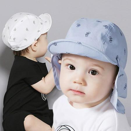 46993f1dd2df7 BAGGUCOR - Baby Boy Sun Hats Summer Baseball Caps with Shawl Autumn Baby  Hat Kids Boy Cap New Fashion Bicycle Sun Cap for Girls 3M to 24M -  Walmart.com