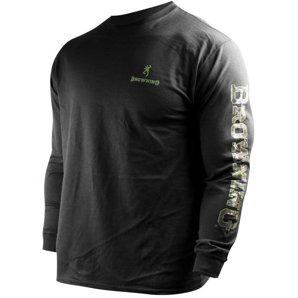 Browning Buckmark Long-Sleeve Crew (2X)- Black/RTX