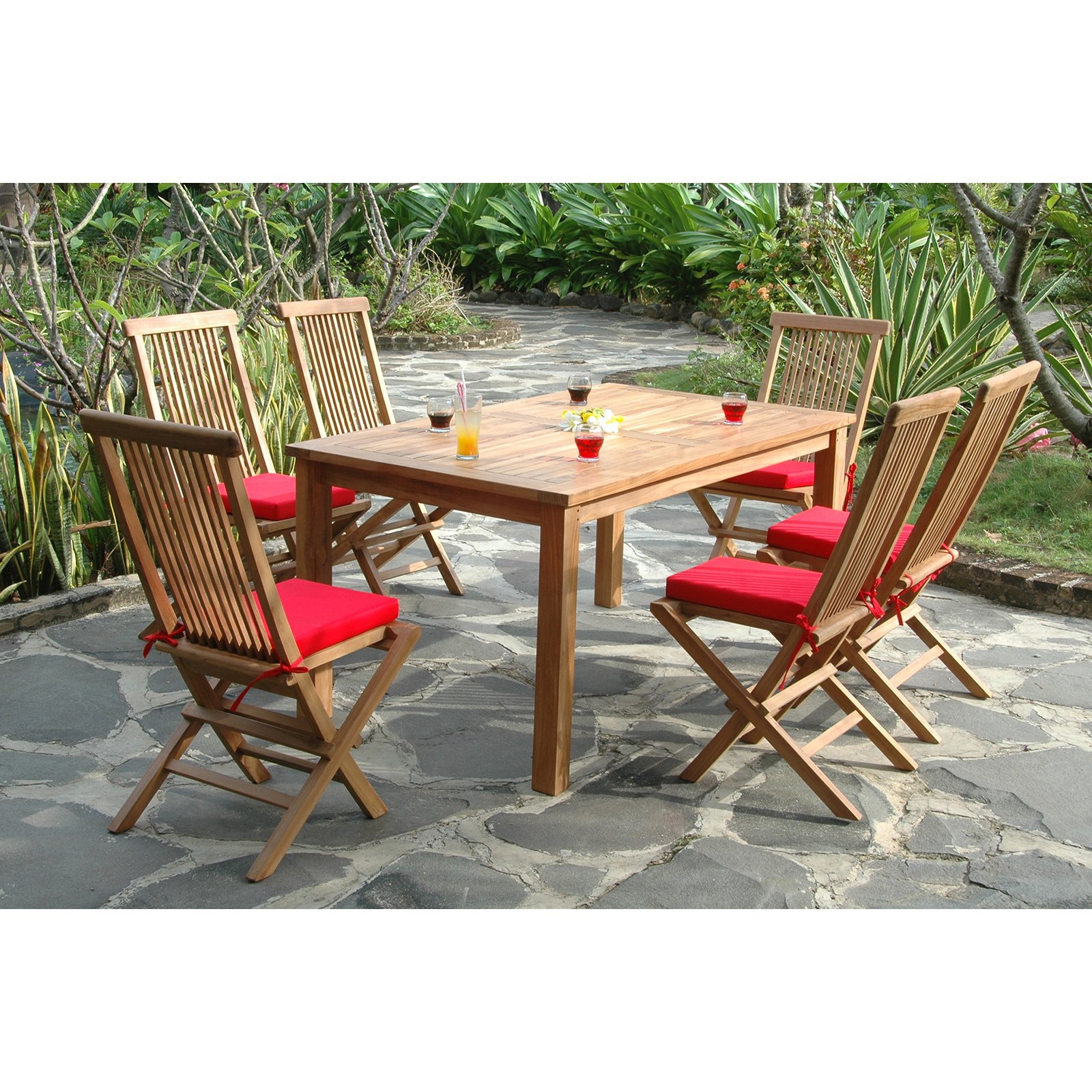 Anderson Teak Bristol Patio Dining Room Set by