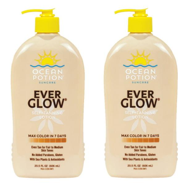 2 Pack Ocean Potion Skincare Ever Glow Daily Moisturizer Lotion 20 5 Fl Oz Each Walmart Com Walmart Com