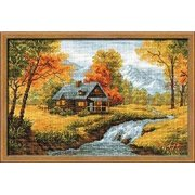 """Autumn View Counted Cross Stitch Kit-15""""X10.25"""" 14 Count"""