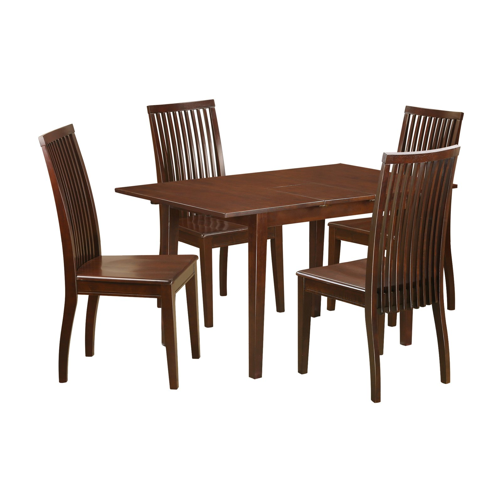 East West Furniture 5 Piece Picasso Rectangular Extending Dining Table Set - Mahogany