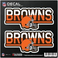 """Cleveland Browns 6"""" x 6"""" Two-Tone Repositionable Decal 2-Pack Set - No Size"""