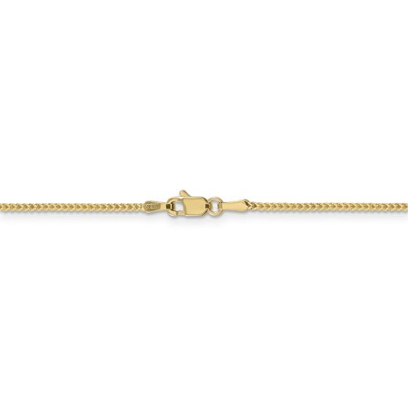 14k Yellow Gold 1mm Franco Chain Anklet Ankle Beach Bracelet 7 Inch : Fine Jewelry For Women Valentines Day Gifts For Her - image 4 de 8