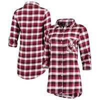 Mississippi State Bulldogs Concepts Sport Women's Piedmont Flannel Long Sleeve Button-Up Shirt - Maroon/Black