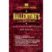 Ballentine's Law Dictionary : Legal Assistant Edition (Paperback)