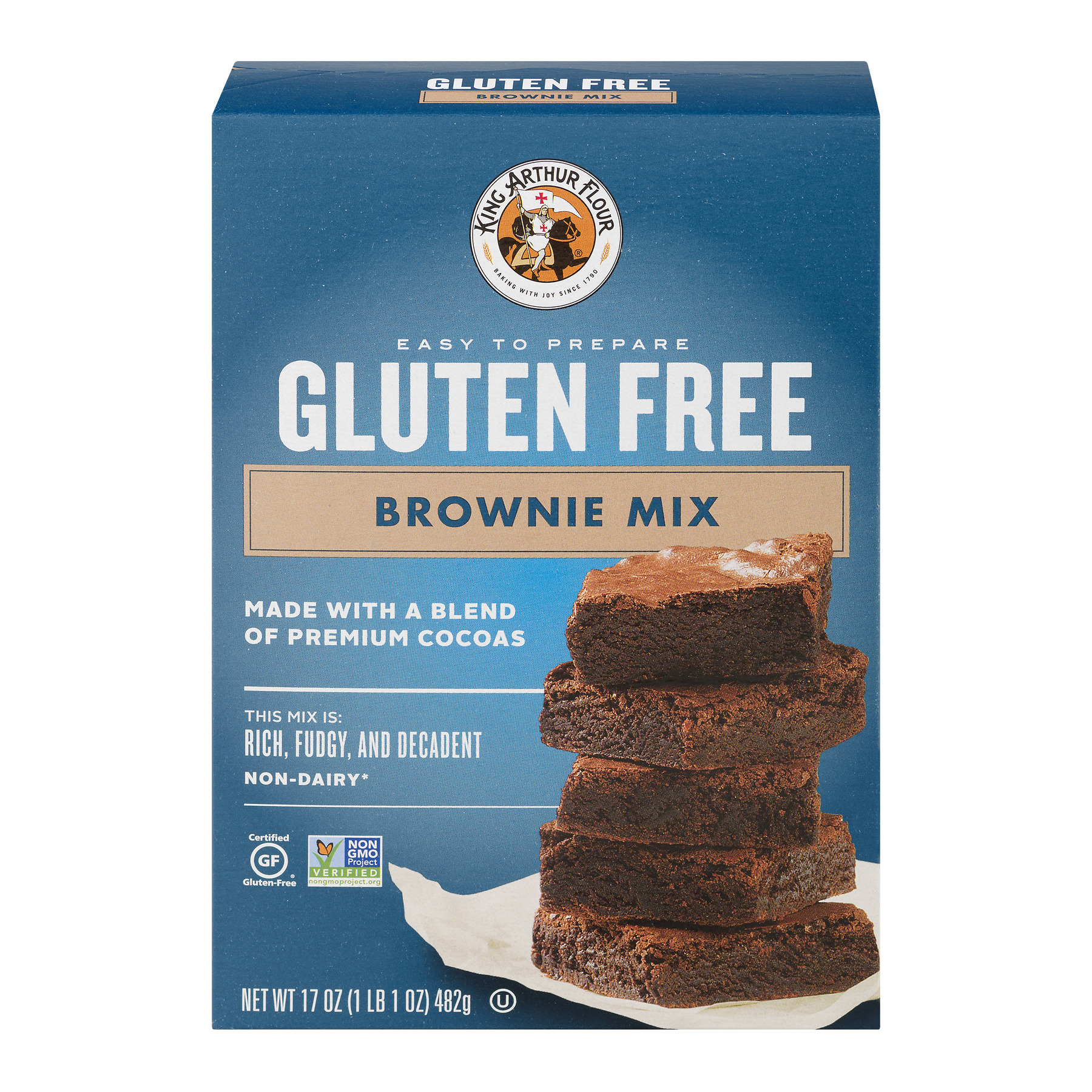 King Arthur Gluten Free Flour Brownie Mix, 17.0 OZ