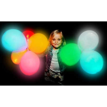 illooms Mixed Colors LED Light Up Balloons 15 Total Birthday Party Balloons - Balloon With Led Light