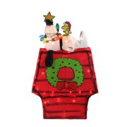 27� Pre-Lit Peanuts 3-Dimensional Snoopy with Star Yard Art Christmas Decoration by Northlight
