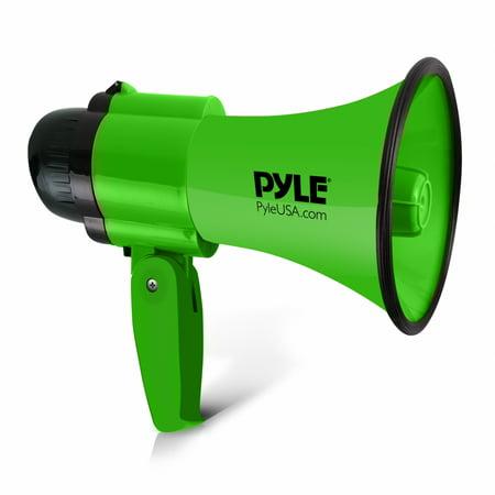 PYLE PMP32GR - Compact & Portable Megaphone Speaker with Siren Alarm Mode & Adjustable Volume, Battery