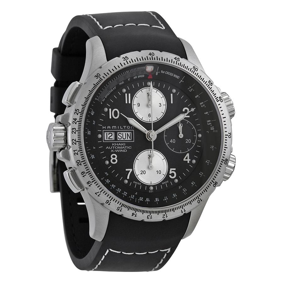 Hamilton X-Wind Black Dial Chronograph Mens Watch H77616333 by Hamilton