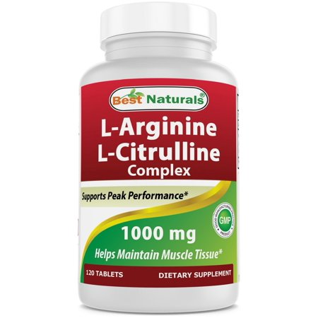 Best Naturals L-Arginine L-Citrulline Complex 1000 mg Tablets, 120