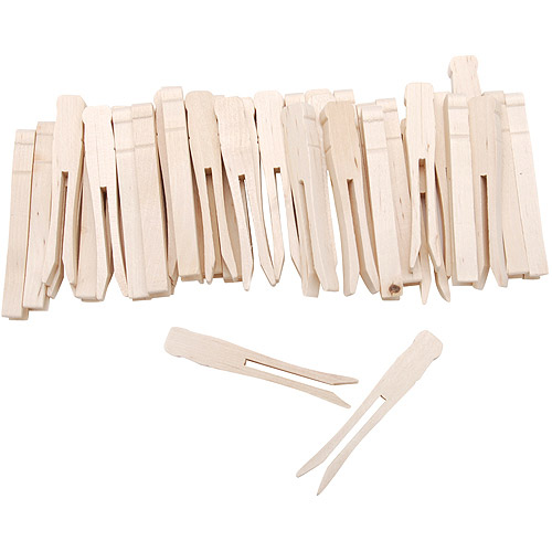 "Woodsies No Roll Clothespins, 3.75"", 40-Pack"