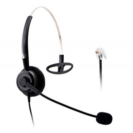 Wantek Wired Call Center Telephone Headset Headphone With Mic For Nec Aspire Dt300 Dsx Polycom 335 400 Avaya 1416 Aastra 6757I Mitel 5330 Shoretel Ip230 Ip Phones H210p01a