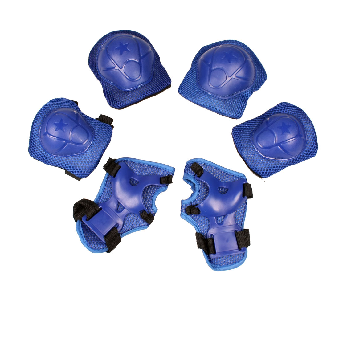 6Pcs Skating Cycling Wrist Support Guard Elbow Knee Pads Safety Gear Set For Kids