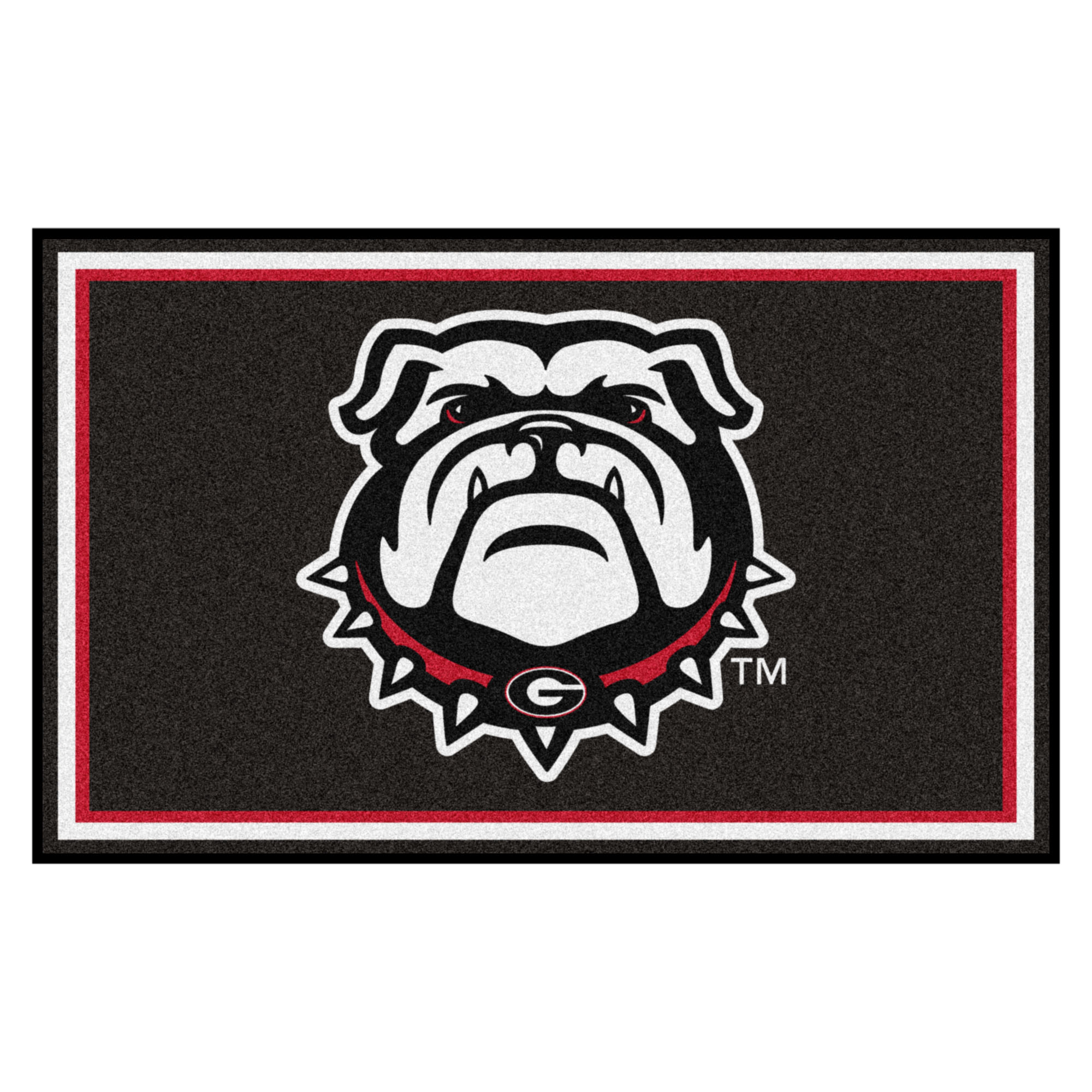 Georgia Black New Bulldog 4'x6' Rug