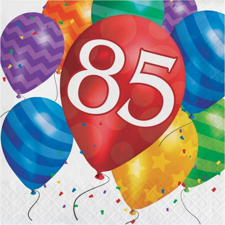Creative Converting Balloon Blast 85th Birthday Napkins, 16 ct - 85th Birthday Ideas