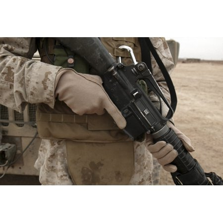 Personal Protective Equipment Poster (A Marine displays the required hand personal protective equipment Poster Print )