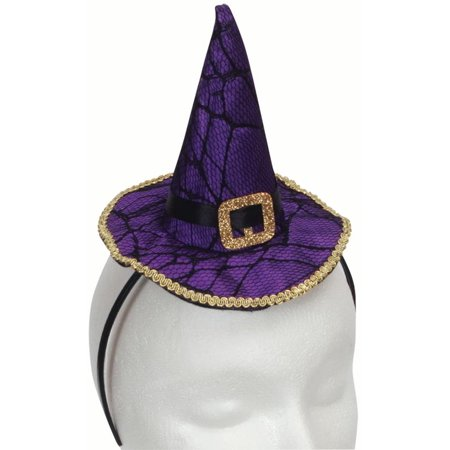 Star Power Halloween Spider Witch Mini Hat Headband, Purple, One Size](Star Island Halloween Party)