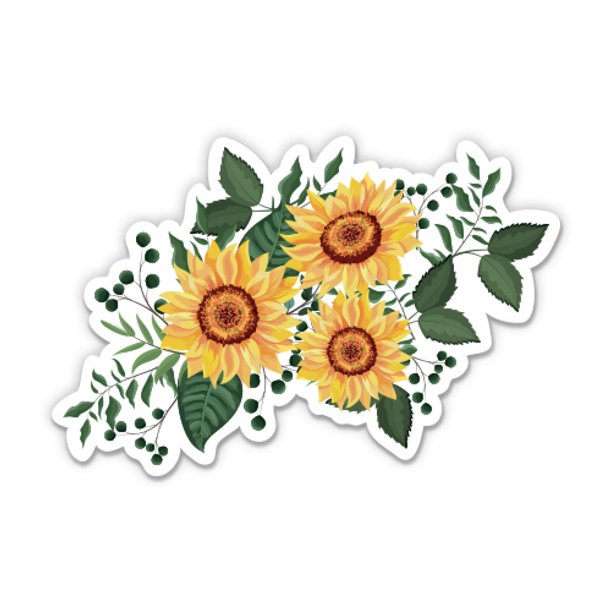 Amazon Com Ak Wall Art Sunflower Vinyl Sticker Car Window Bumper Laptop Select Size Home Kitchen