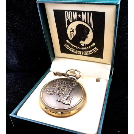POW MIA Vietnam War Memorial Pocket Watch Gift Idea for Vietnam Vets - Medical Pocket Watch