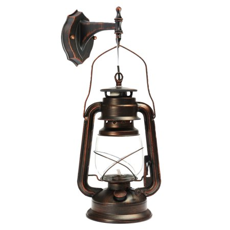 Grtsunsea Antique Wall Lantern Vintage E27 Wall Lamp Garden Light Lighting Fixture Fitting with Bulb
