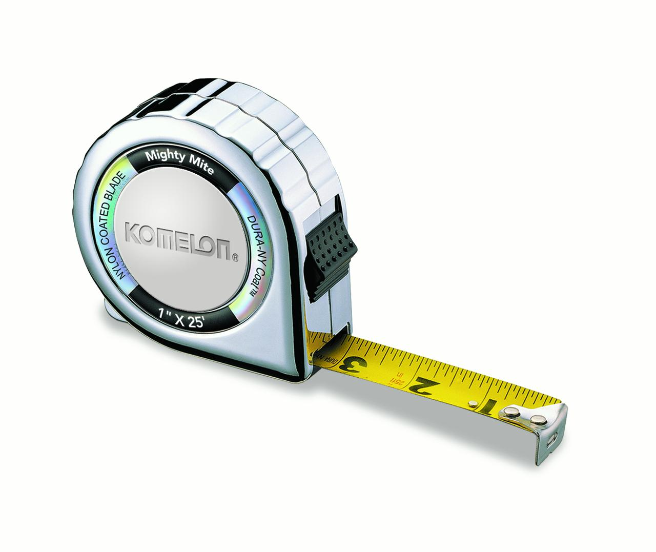 """2 pack Komelon SS125 Gripper Stainless Steel Measuring Tape 1/"""" x 25/'"""