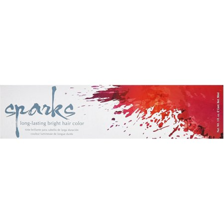 Sparks Long Lasting Bright Hair Color, Red Hot 3 (Best Long Lasting Red Hair Dye)