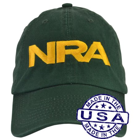 28f4deed NRA Hat - 100% Made in the USA - Green Strap Back - Walmart.com