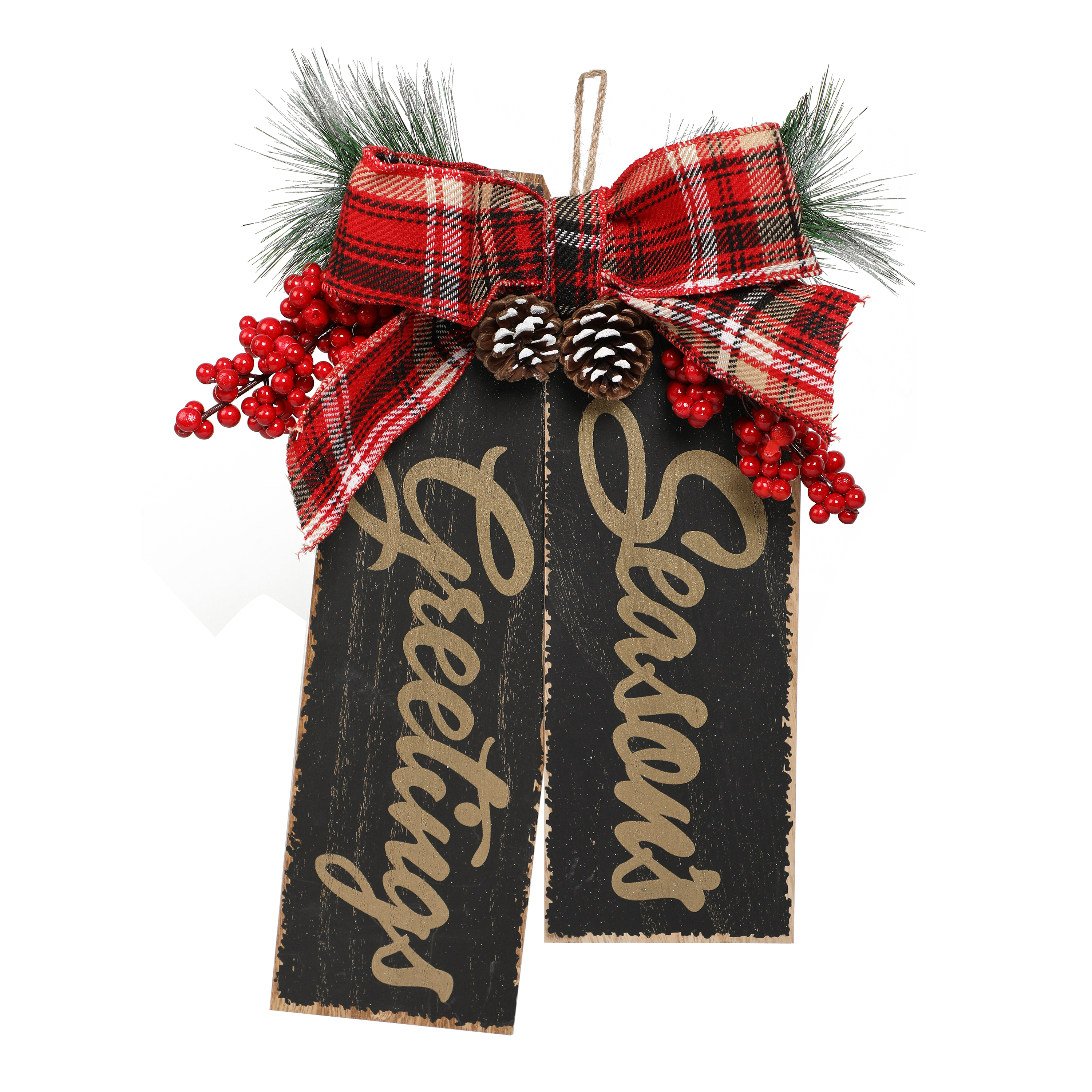 Holiday Time Seasons Greeting Tag