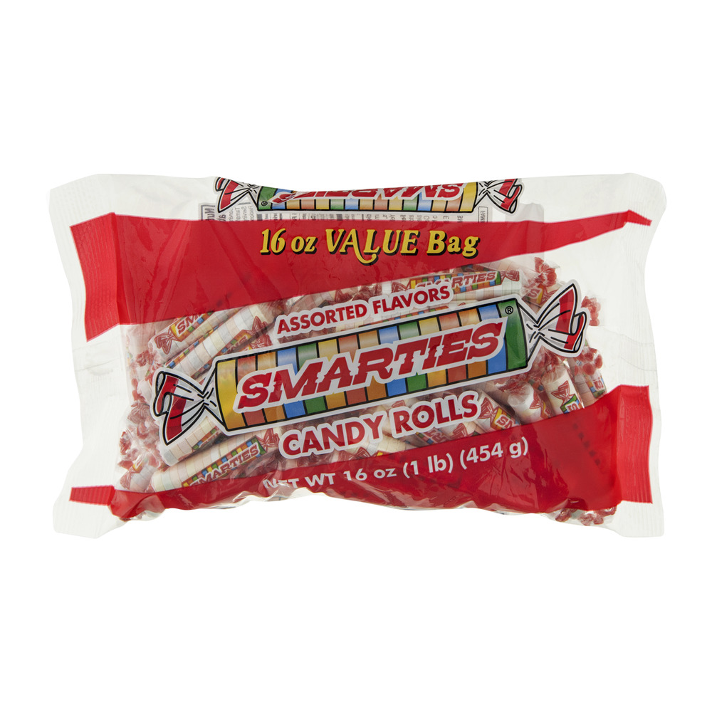 Smarties Candy Rolls Assorted Flavors, 16.0 OZ