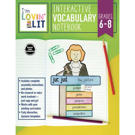 I'm Lovin' Lit Interactive Vocabulary Notebook, Grades 6 - 8: Greek and Latin Roots and Affixes ()
