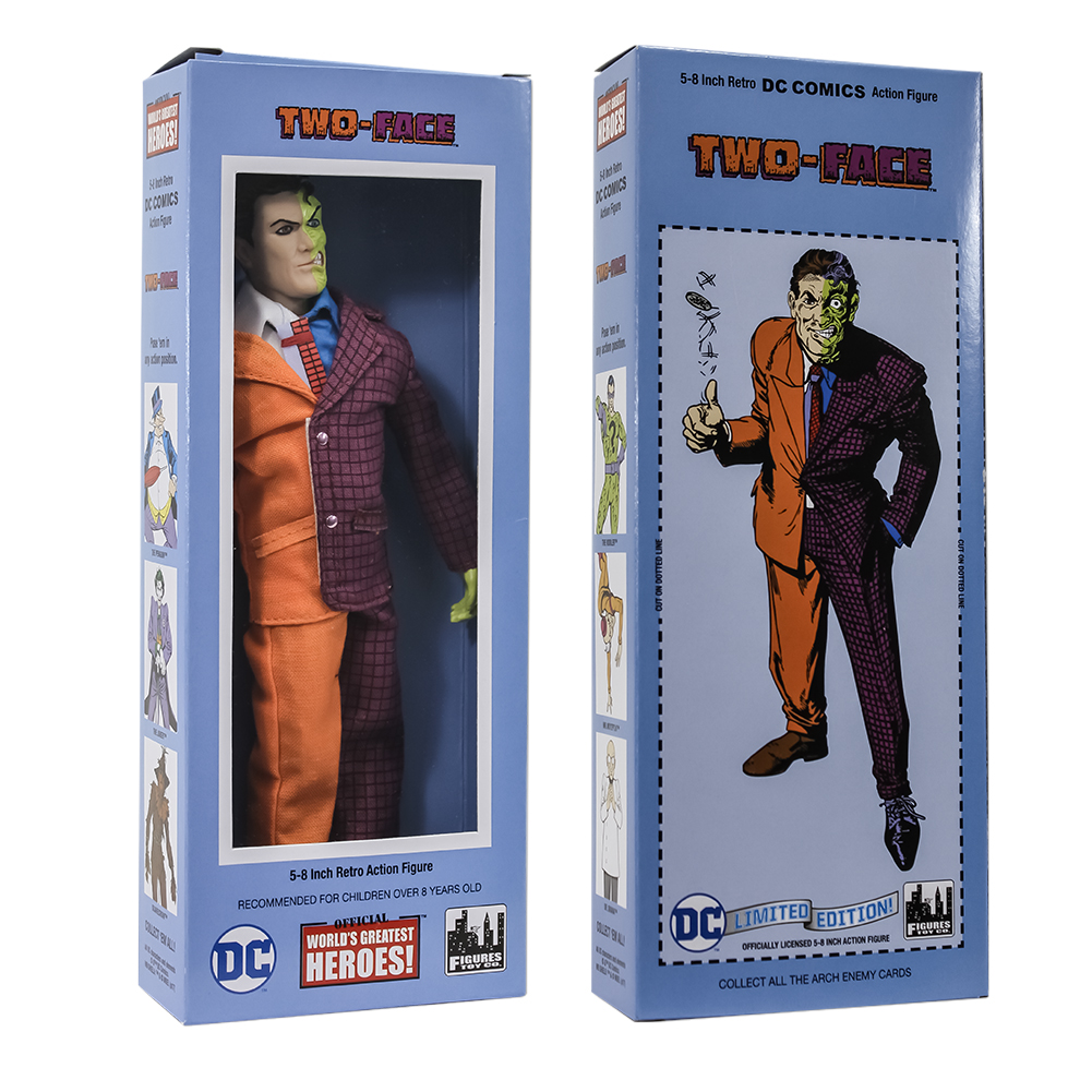 DC Comics Mego Style Boxed 8 Inch Action Figures: Two-Face