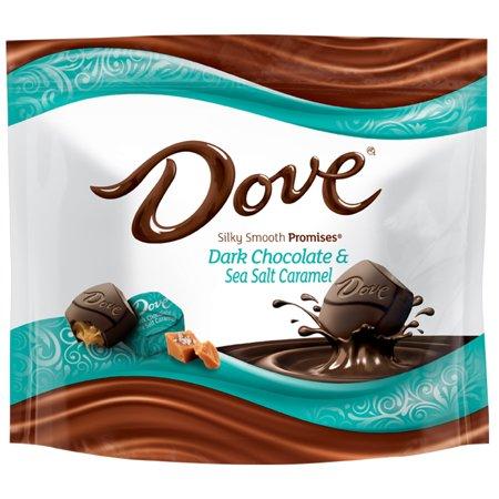 DOVE PROMISES, Sea Salt And Caramel Dark Chocolate Candy, 7.61 Oz Bag