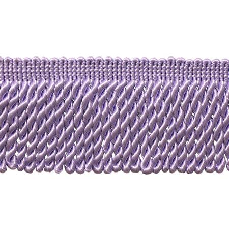 Long Color Purple (3 Inch  Long LILAC Bullion Fringe Trim, Style# BFS3 Color: Light Purple - D7, Sold By the Yard)